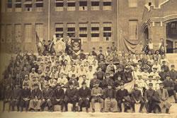 1920(T9)年度の運動部の選手たち