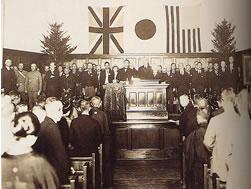 創立40周年記念式典での小林一三への感謝状贈呈/1929(S4).9.28