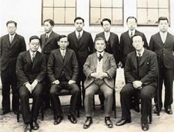 大学予科創設時の教授会メンバー/1932(S7)