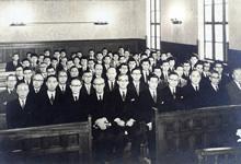 大学院第18回修正学位授与式/1959(S34).3.30