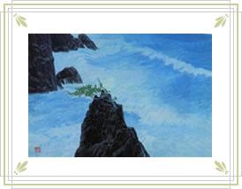 No.16 東山魁夷「波響く磯」