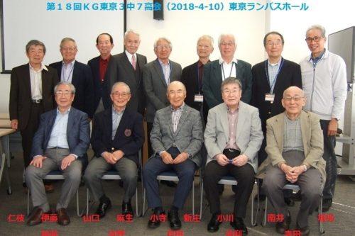 第18回 KG東京3中7高会(中学部3回生・高等部7回生)4月10日(火)開催